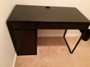 Brand new IKEA compact desk never used comes with leather chair