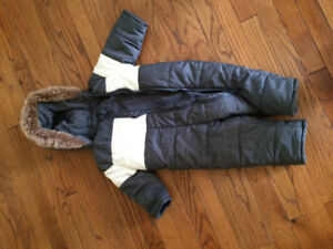 6-12 mth Grey/White Joe Fresh One Piece Snow Suit