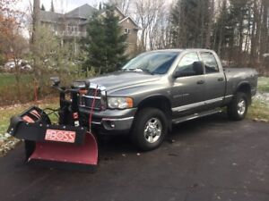 2005 Dodge Power Ram 2500 Laramie Pickup Truck with Boss Plow