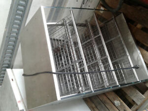 Lighted display rack stainless