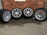 """19"""" GENUINE BMW 7 SERIES STYLE 238 ALLOY WHEELS WITH MATCHING DUNLOP 3D WINTER TYRES"""