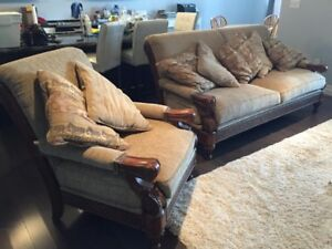 Beautiful Sofa and Chair - Moving sale
