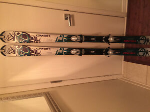 HEAD LIQUIDMETAL DOWNHILL SKIS. GOOD CONDITION