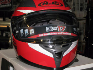 hjc is-17 grapple red grey and silver  helmet d.o.t.