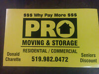 PRO-MOVING AND STORAGE*Short Notice moves
