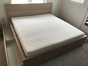 IKEA King size  (mattresses and frames)