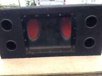 Bass box sub woofer with kenwood 528 amp