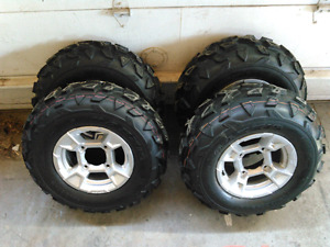 """12""""  can am tires and wheels"""