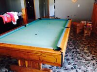 SOLID SLATE TOP POOL TABLE