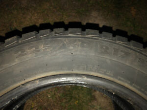 One pair 225 60R 17 Winter Tires