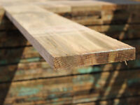 """Timber Gravel Boards Fencing 22mm x 150mm   6x1"""" Treated Fencing Timber Boards"""