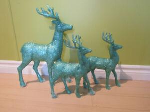 Holiday Christmas Green Deer's