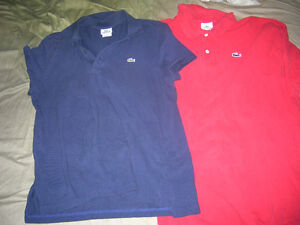 Lacoste Polo Shirt Mens Red and Blue