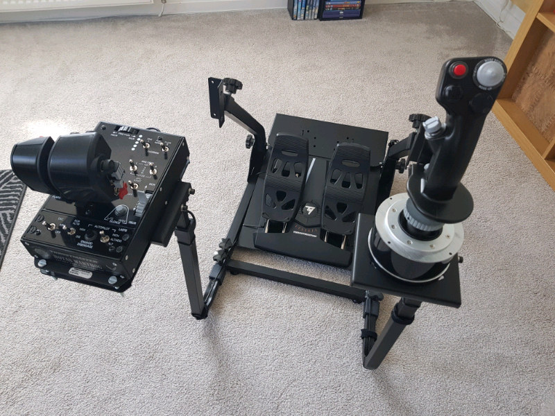 Thrustmaster Warthog HOTAS and TFRP T-Flight Rudder Pedals | in Whitburn,  West Lothian | Gumtree