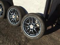 """Porsche wheels, 17"""" original alloys , £ 595.00 ovno, from 2004 boxster all refurbed and good tyres"""