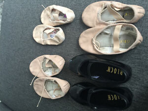 Assorted dance shoes