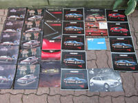 Cutlass, Fiero, Firebird, Camaro, Nova, Vintage Car Brochures