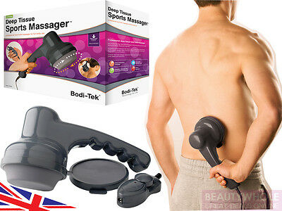 Bodi-Tek Electric Hand Held Deep Tissue Sports Massager Full Body 2 Yr Warranty