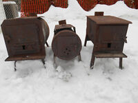 Poile a bois pêche hiver chasse