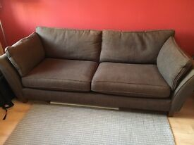 Chocolate brown Marks & Spencer 2/3 seat sofa