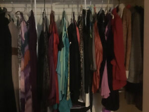 Downsizing, Lots of clothes for sale