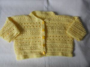 BRAND NEW HAND CROCHETED TODDLER CARDIGAN SWEATER