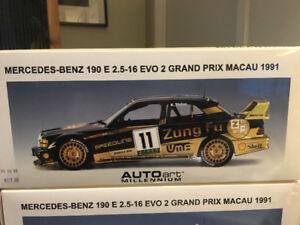 1/18 AUTOart Mercedes-Benz 190E 2.5-16 EVO 2 Grand Prix Macau