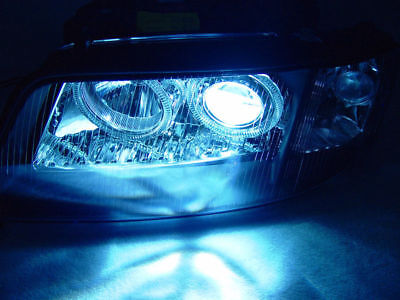Black Halo Headlight+Xenon HID Bulb+Ballast For 98-01 Audi A6 C5 Halogen Upgrade