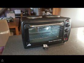 Oven/grill/hob/rotisserie