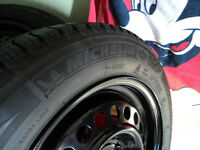 205/60R16 Michelin Xice3 winter tires rims, like a new set