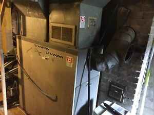 Furnace diezel with Ducts/furnace au mazot