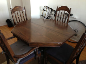 Wooden Table and four chairs -a bargain!