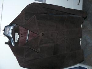 Veste suède brun chocolat femme médium