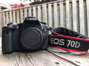 CANON EOS 70D WITH 18-135MM LENS KIT + 10-18MM + NEEWER FLASH