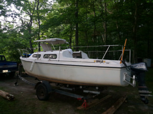 """21  Foot  """"Sirius"""" Sail Boat and Motor For sale."""