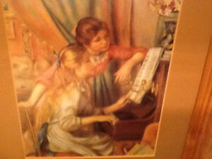 Renoir print in oak frame
