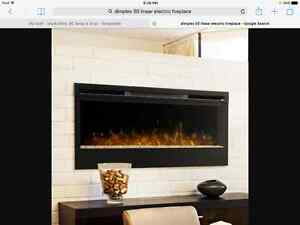"Dimplex 50"" Linear Built in Electric Fireplace"