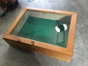 Large wood display/showcase - $75