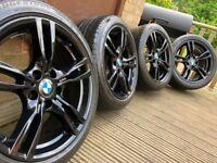 """Genuine BMW 3 Series 18"""" 400 M Sport Alloy Wheels & Tyres F30 F31 F32 F33 E46 E90 E92 Z4 Black"""