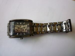 MEN'S WATCH with CLEAR FRONT & BACK TO SEE MECHANICAL WORKINGS