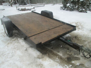 Tilting 5 feet by 10 feet Flat Utility Trailer For Sale