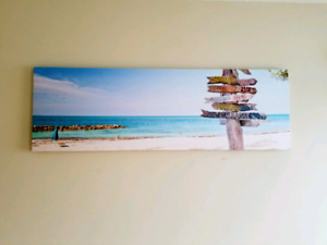 Canvas Print of a Beach