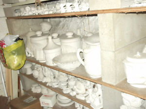 kiln and greenware