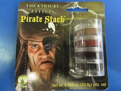 Pirate Stack Makeup Caribbean Face Paint Fancy Dress Halloween Costume Accessory