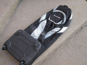 "PowerBilt 52""L Golf Travel Bag with Wheels ""NEW"""