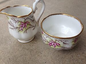 Royal Albert Heather Bell - Cream and Sugar