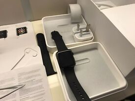 Apple Watch 42mm - £520 rrp - Stainless Steel & Ceramic Black