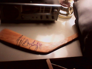 1986 Wayne Gretkzy Autographed game used Hockey stick