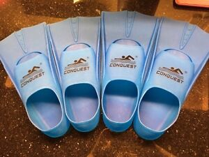 2 pairs of kids swim fins for 7-10 years old