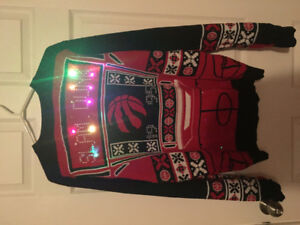 Raptors holiday sweater